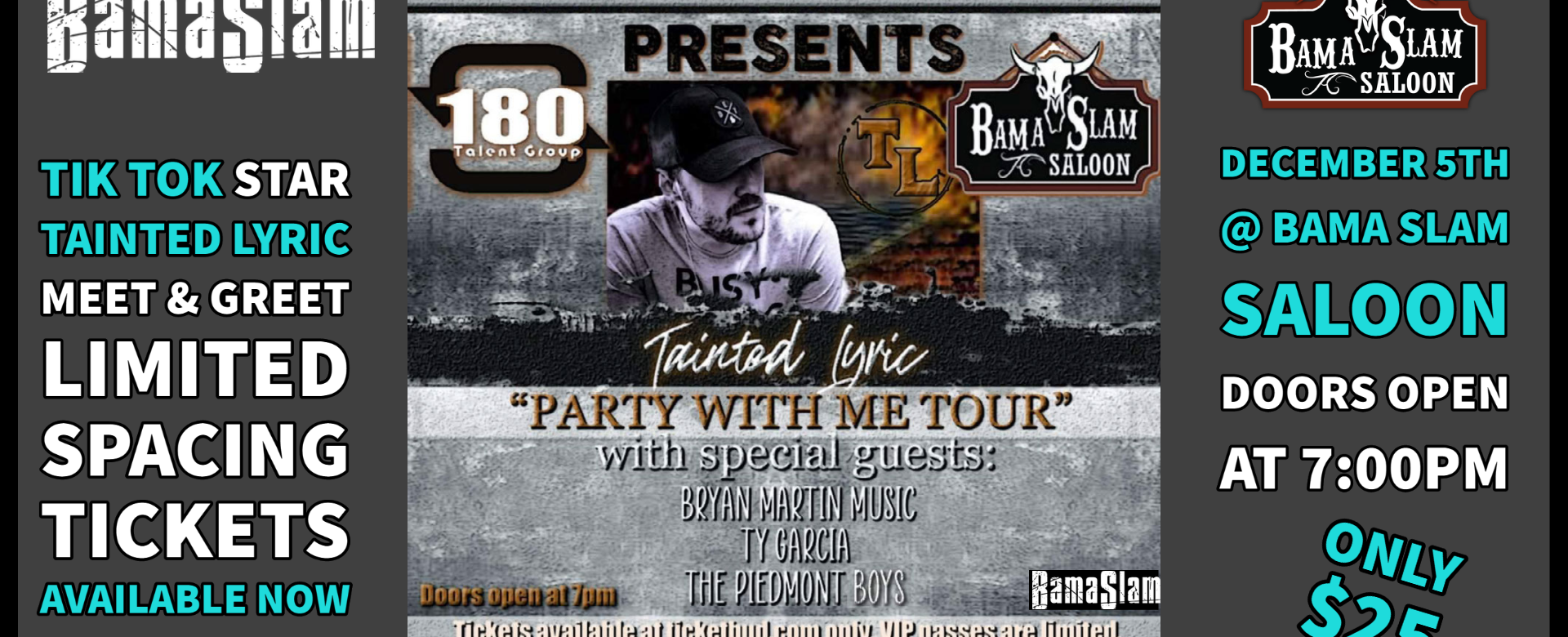 Tainted Lyrics Party with Me event @Bama Slam